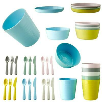 IKEA Children Kids Plastic Bowls Cups Plates Cutlery Dinner Set Microwave KALAS