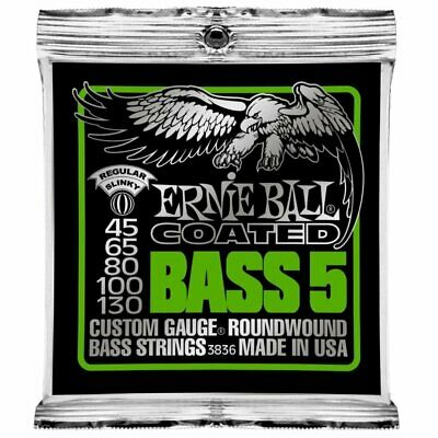 Ernie Ball Bass 5-strings Coated Regular Slinky Set 045 to 130 Roundwound