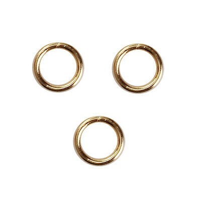 Findings - 4mm Gold Plated  Round Opened Jump Rings - 50Pcs