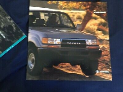 1991 Toyota Land Cruiser Color Brochure Catalog Prospekt