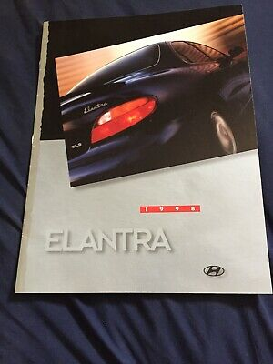 1998 Hyundia Elantra Color Brochure Catalog Prospekt