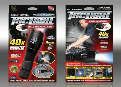 5 Modes 40x Times Brighter Bell /& Howell TacLight Flashlights NEW 6 ct Lot