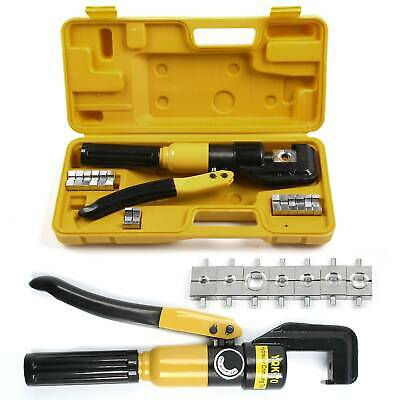 Tube Terminals Lugs Hydraulic Crimper Tool Kit Battery Cable Wire UK