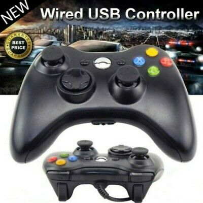 For Microsoft Xbox 360 Wired Controller Remote Black - Brand NEW! Fast Shipping