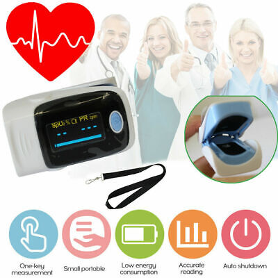 UK Pulse Oximeter Blood Oxygen Saturation SpO2 Meter Finger PR Monitor Fingertip