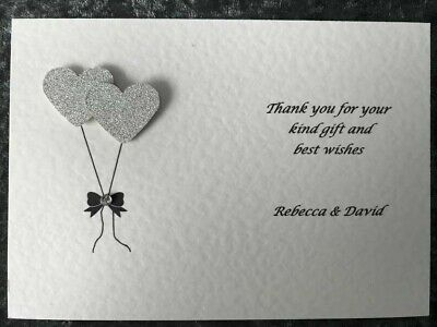 Personalised Wedding Engagement Thank You Cards Handmade with Envelopes