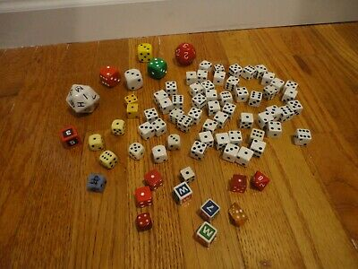 80 Dice Die Collection Lot