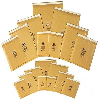 Padded Envelopes GOLD Jiffy Airkraft Bubble Wrap Postal Bags - All Size Fast P&p