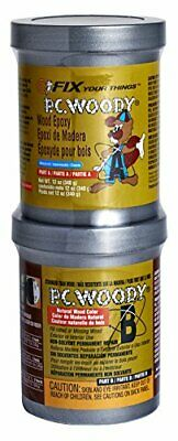 PC Products PC-Woody Wood Repair Epoxy Paste Two-Part 12oz in Two Cans