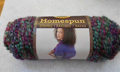 Lion Brand Yarn 790-441 Homespun Yarn Pack of 3 skeins Purple Aster
