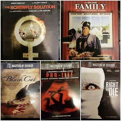Masters of Horror Season 2 Lot of 9 Episodes / Movies Individual Cases