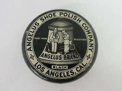 Vinntage Advertising  Angelus  Shoe Polish Leather  Tin   866-O