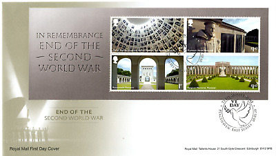 2020 END of WWII MINI SHEET GB FIRST DAY COVER FDC VE DAY PEACEHAVEN NCE 8.5.20