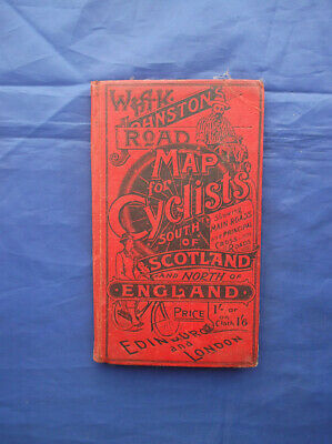 W & A K Johnston Road Map For Cyclists South Of Scotland/North Of England Cloth