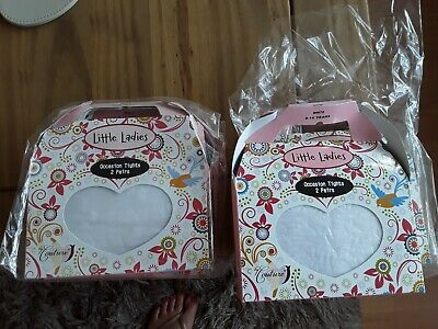 Little ladies occassion white tights 2x boxed size 8-10 years BNIB 💕