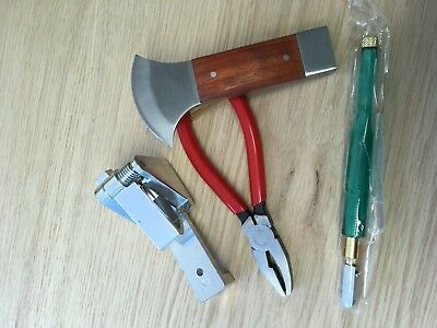 Stained glass tools Glass Cutter, Lead vice ,Lead came cutter, Grozing Pliers a
