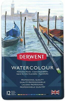 Derwent Watercolour Pencils, Set of 12, Professional Quality, 32881, M+C1029ulti