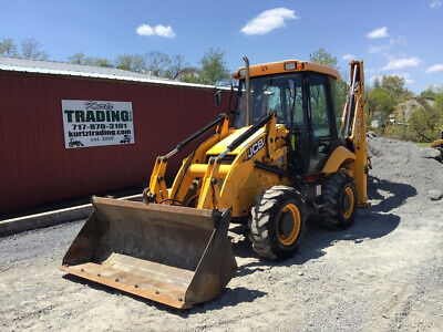 2014 JCB 2CX12 Compact Tractor Loader Backhoe w/ Cab 4-1 Bucket Only 3300Hrs!