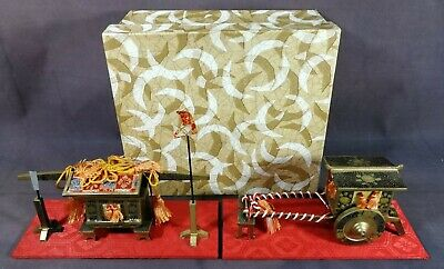Hina Doll CARRIAGE Accessories Japanese Vtg Dollhouse Furniture/set 2 pieces