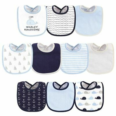 Hudson Baby Bib 10Pk, I'm Whaley Handsome, One Size