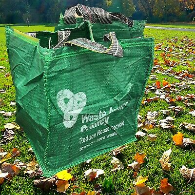 5 x Garden Waste Bags - Heavy Duty Large Refuse Storage Sacks with Handles CHEAP