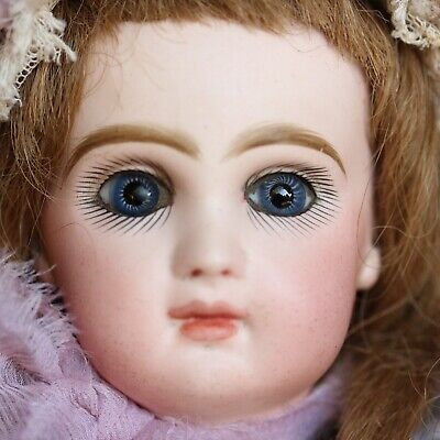 JUMEAU Tete Antique Doll Automat Musical Box Porcelain Leopold Lambert 1880
