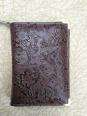 Brown Embossed leather bible cover 4 standard Jehovah's Witness Bible (DLbi12-E)