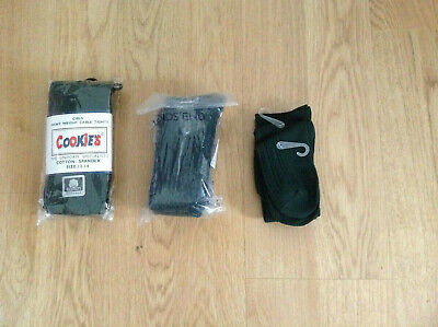 Girls Uniform Evergreen 5 Pairs Knee High Socks & 1 Tights Lands' End Cookie's