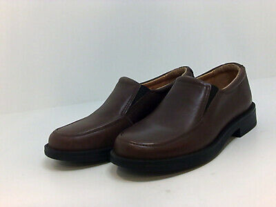 Kids Cole Haan Boys Air Ace Leather Slip On Loafers, Brown, Size 13.0 lYut