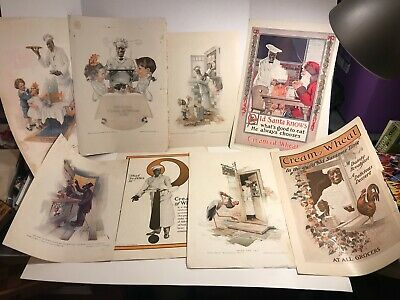 1900's Cream of Wheat Cereal Americana Vintage Print Ad lot of 8