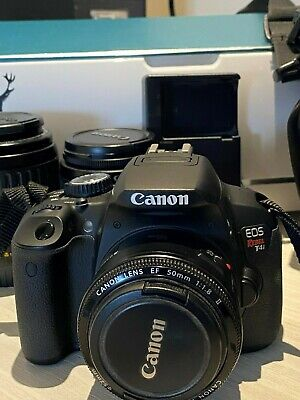 Canon EOS Rebel T4i / EOS 18.0MP Digital SLR Camera four lenses and Accessories