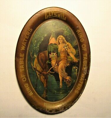 CLYSMIC table water NUDE GIRL & BUCK pre-pro oval tip tray WAUKESHA, WIS