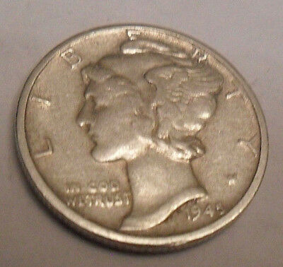 1945 P Mercury Dime   *90% SILVER*   *AG OR BETTER*   *FREE SHIPPING*