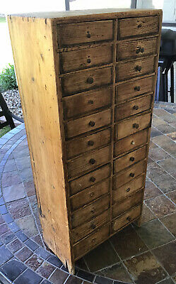 """Rustic Vintage 24 Drawer Cabinet 27 1/2"""" High By 12"""""""