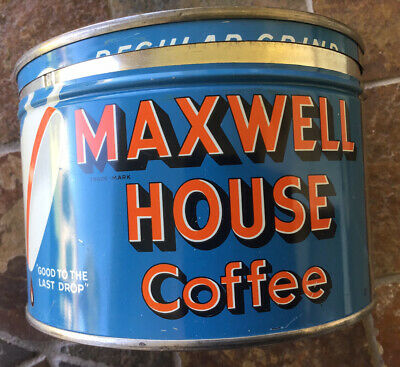 MAXWELL HOUSE VINTAGE  Regular Grind 1 lb. TIN CAN Excellent Color Graphics