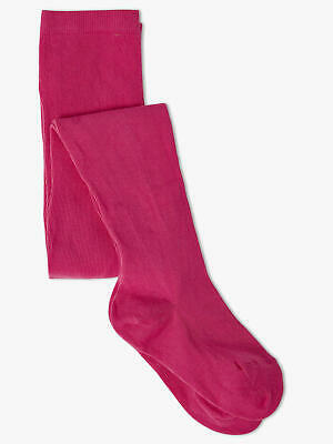 bnwt Girls AGE 1-2 YRS (86/92cm) in col Fuchsia cotton rich tights NEW X-STORE