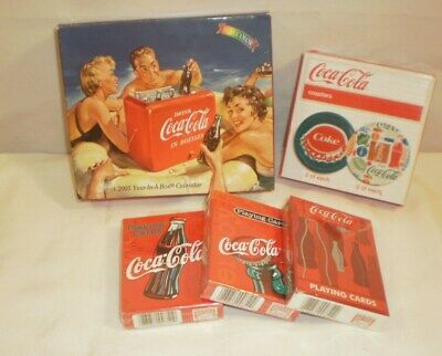 Collectible Coca Cola Stuff Cards, Coasters, Calendar