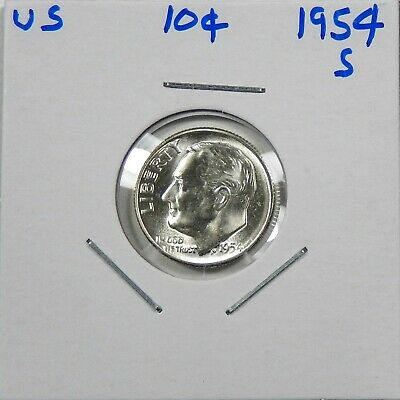 1954-S Silver Roosevelt Dime Choice to Gem Uncirculated  - Free Shipping