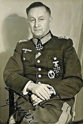"Original- Ww2 German Army General Of Infantry "" Ernst Dehner "" Autographed Photo"