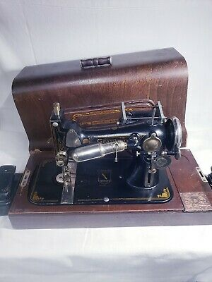 Antique 1930's Graybar Model 1 A Electric Sewing Machine Wooden Case - untested