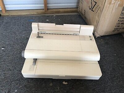 GBC VeloBind System Two Binding Machine Electric Punch and Bind