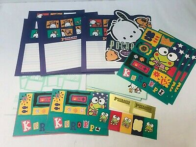 Vintage Pochacco & Keroppi Stationary Mixed Set Sanrio Collectible 1990s Kawaii
