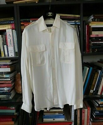 Polo Ralph Lauren Large Ivory Viscose Military Blouse