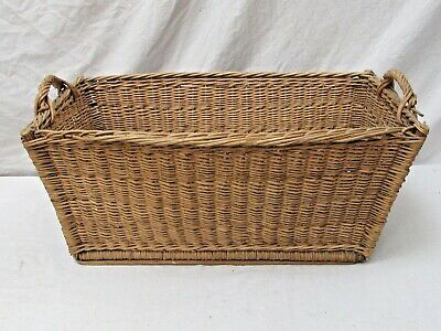 Antique French Wicker Laundry Basket