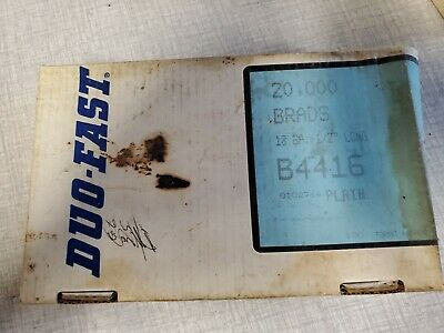 """1/2"""" Inch Duo-Fast Brad Nails, Straight Strip B-4416 sSealed Box (New) 20,000"""