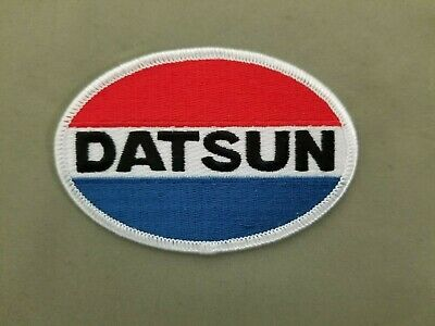 Datsun Automotive Embroidered Oval Iron On Patch
