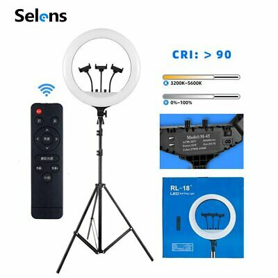 "Selens Studio 18"" LED Ring Light & Light Stand Light Phone Clip Remote Control"