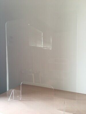 Sneeze Guard Acrylic Safety Shield Screens | 600mm x 400mm H + FREE Ship AUS