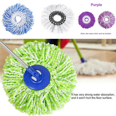 Floor Mop 360° Bucket Heads Microfiber Spin Spinning Rotating Head Cleaning Tool