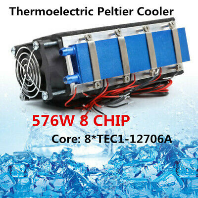 New 12V Thermoelectric Peltier Refrigeration Fast Cooling System Cooler Fan 576W
